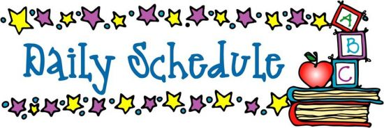 daily schedule clipart